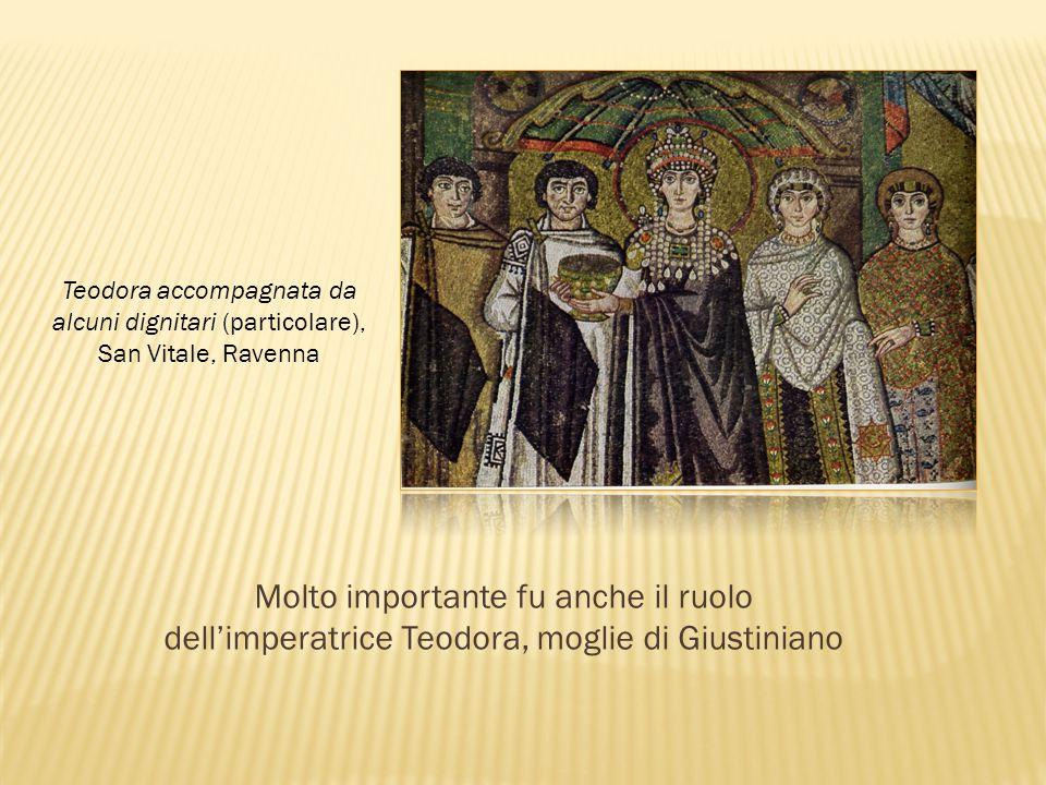 Teodora accompagnata da alcuni dignitari (particolare),