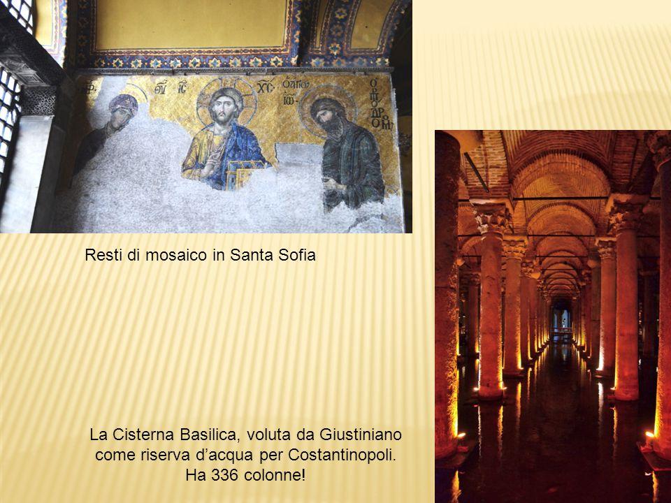Resti di mosaico in Santa Sofia