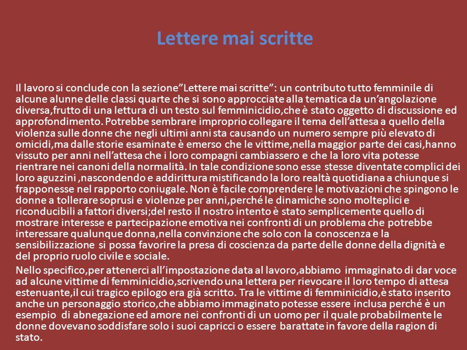 Lettere mai scritte