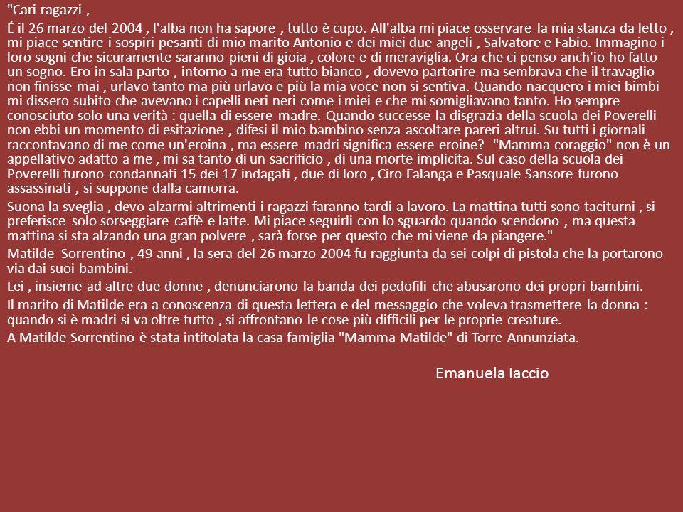 Emanuela Iaccio Cari ragazzi ,