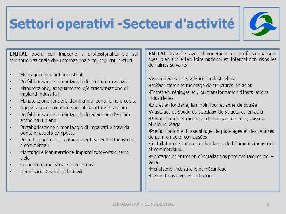 Settori operativi -Secteur d activité