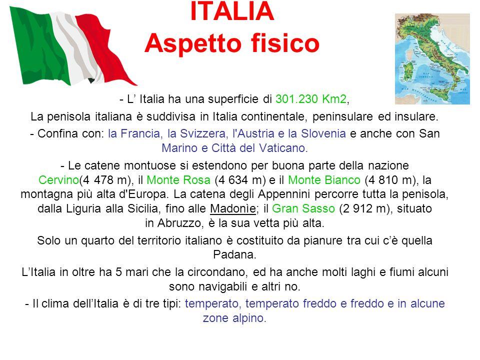 - L' Italia ha una superficie di 301.230 Km2,