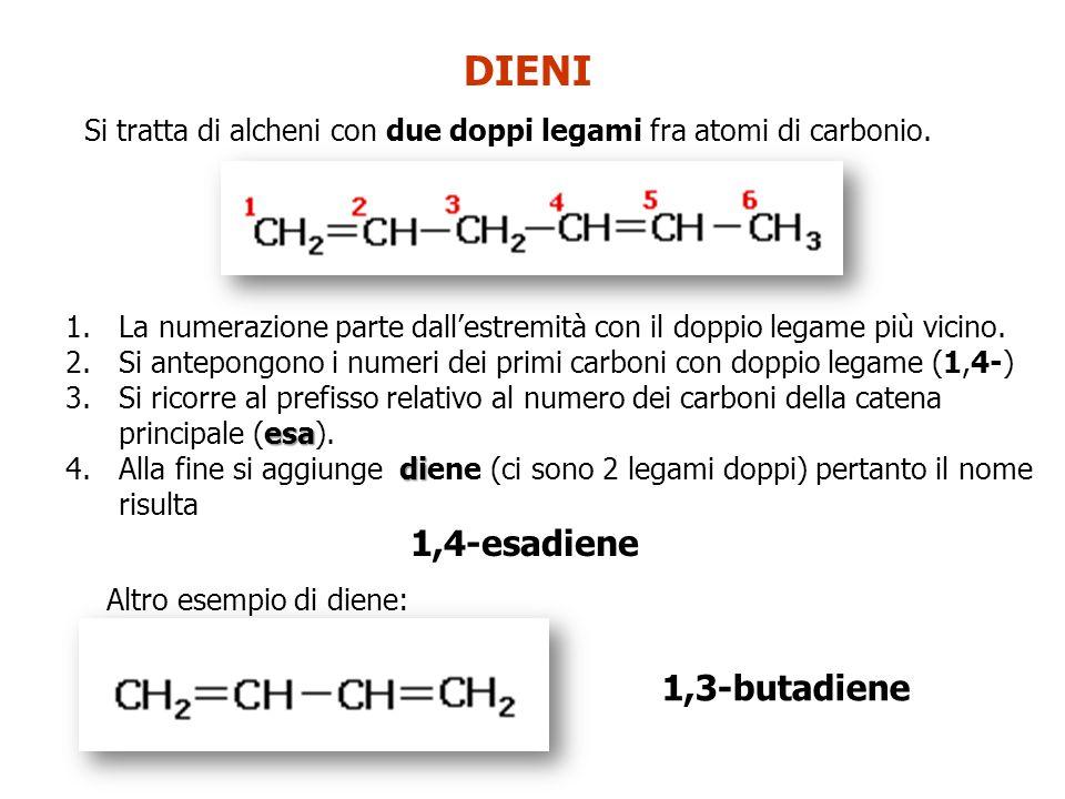 DIENI 1,4-esadiene 1,3-butadiene