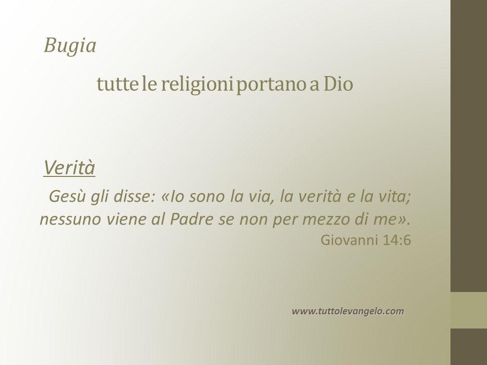 tutte le religioni portano a Dio