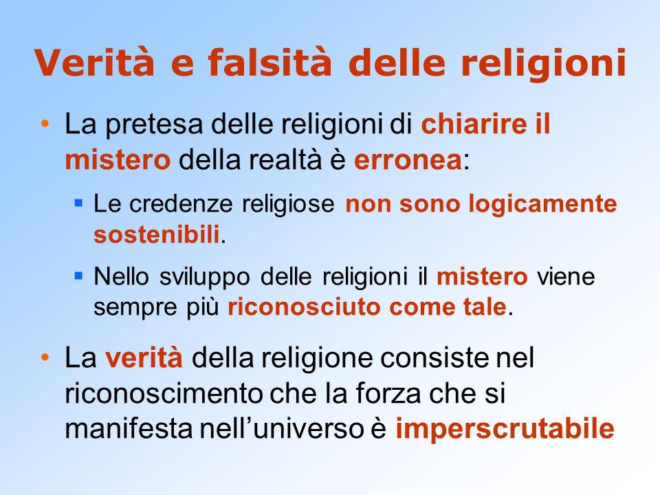 Verità e falsità delle religioni