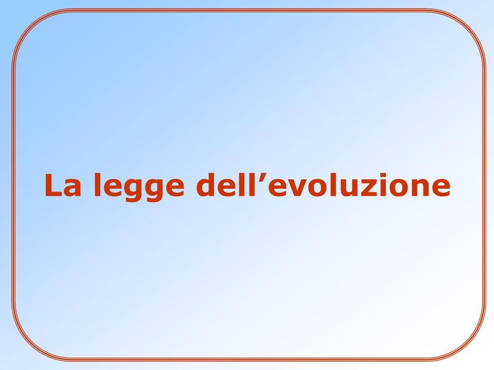 La legge dell'evoluzione