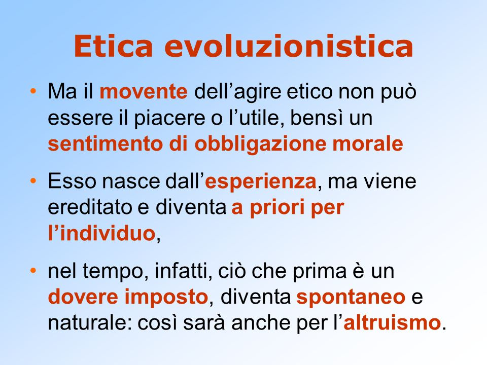 Etica evoluzionistica