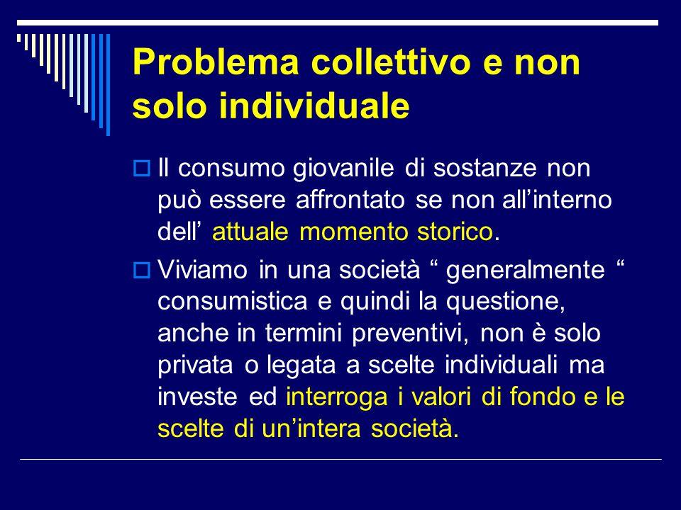 Problema collettivo e non solo individuale
