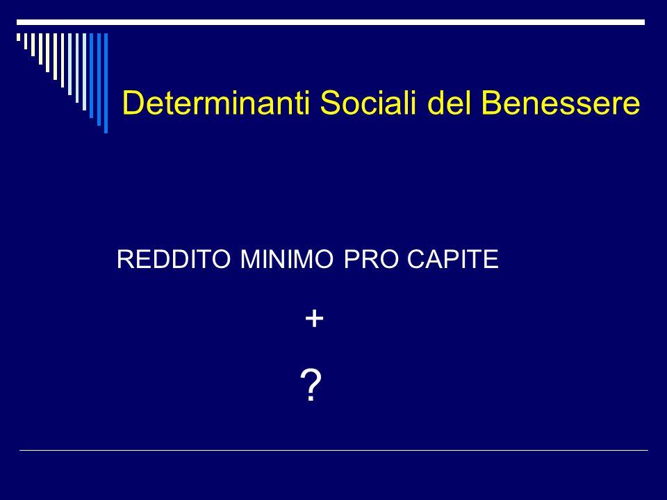 Determinanti Sociali del Benessere