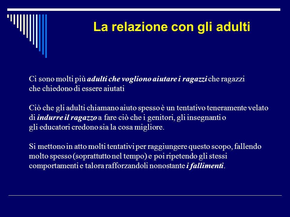La relazione con gli adulti