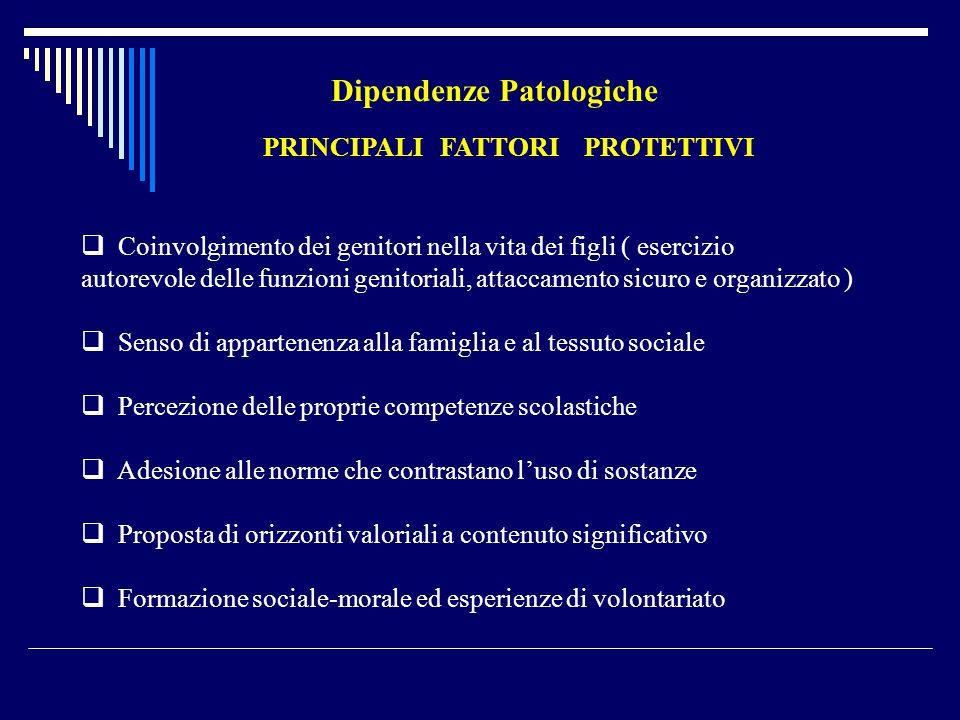 PRINCIPALI FATTORI PROTETTIVI