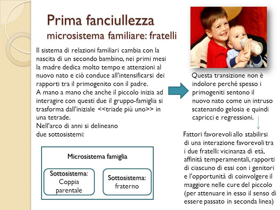 Prima fanciullezza microsistema familiare: fratelli