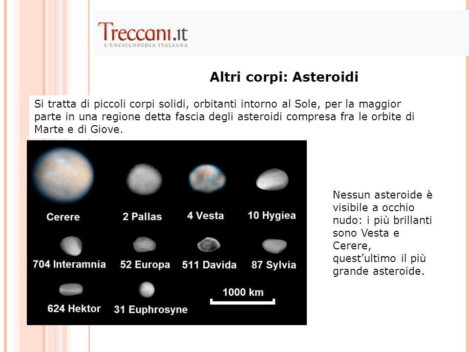 Altri corpi: Asteroidi
