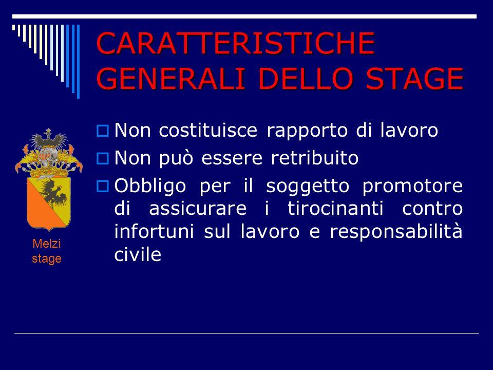 CARATTERISTICHE GENERALI DELLO STAGE