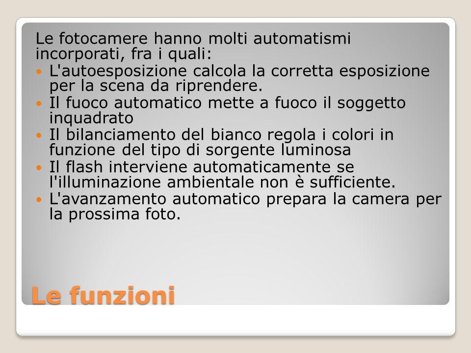 Le fotocamere hanno molti automatismi incorporati, fra i quali:
