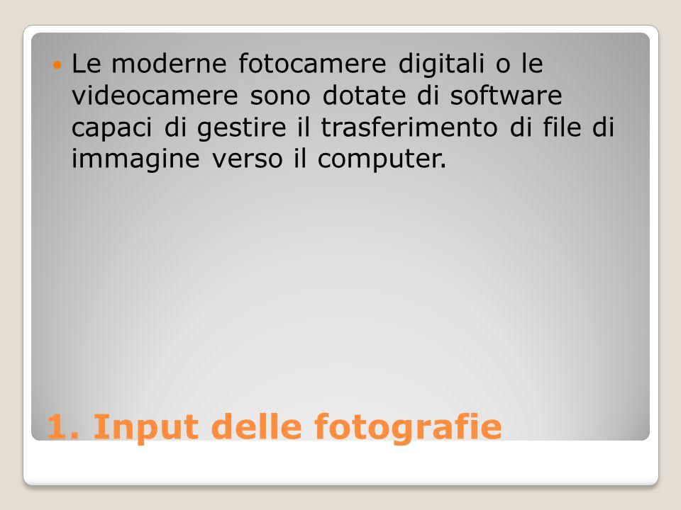 1. Input delle fotografie