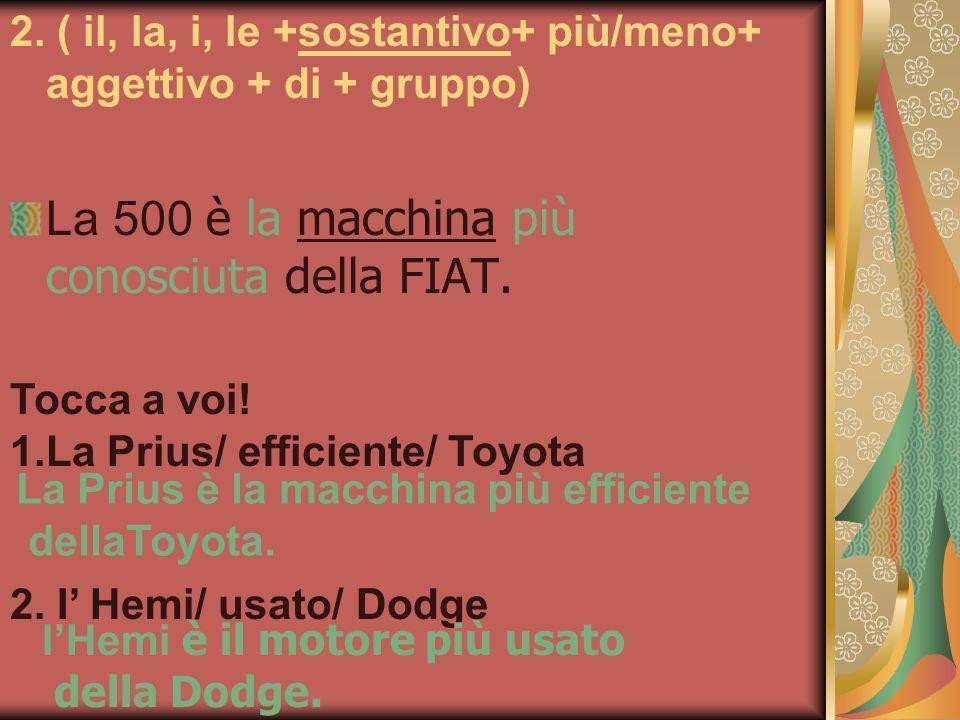 La 500 è la macchina più conosciuta della FIAT.