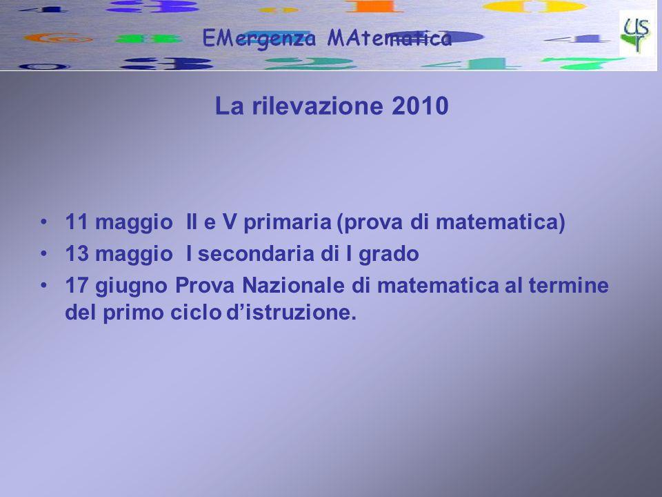 La rilevazione 2010 11 maggio II e V primaria (prova di matematica)