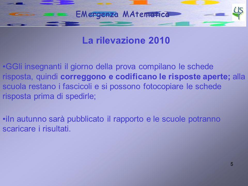 La rilevazione 2010