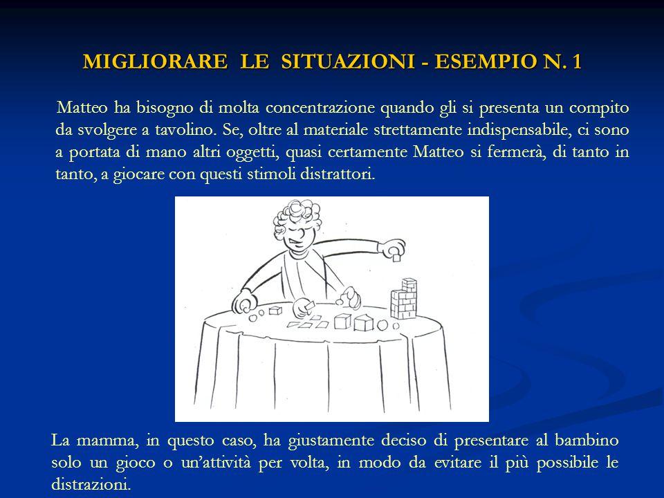 MIGLIORARE LE SITUAZIONI - ESEMPIO N. 1