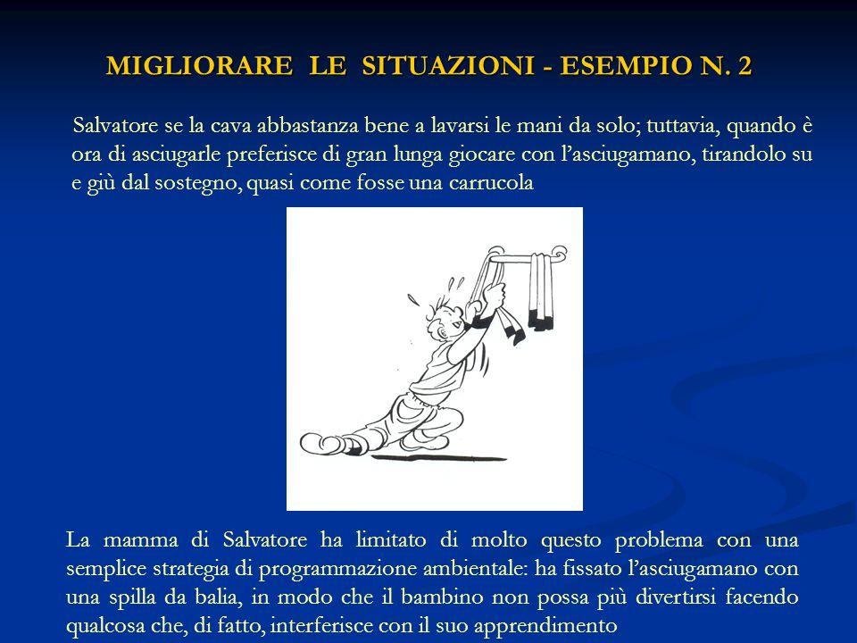 MIGLIORARE LE SITUAZIONI - ESEMPIO N. 2
