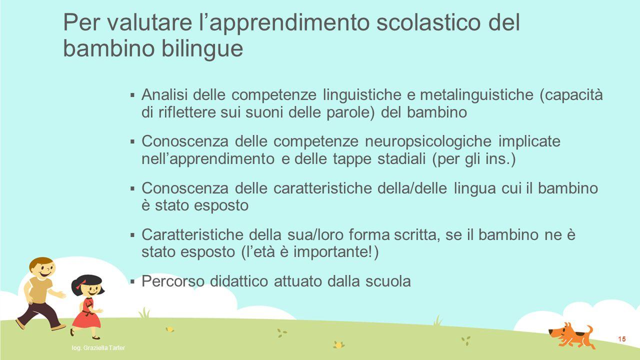 Per valutare l'apprendimento scolastico del bambino bilingue