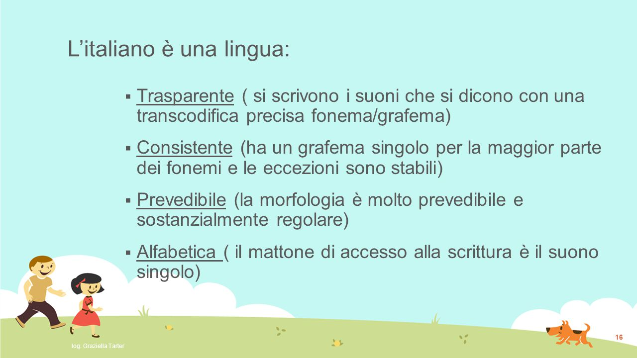 L'italiano è una lingua: