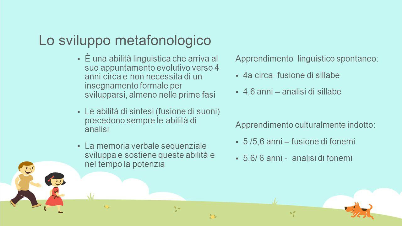 Lo sviluppo metafonologico