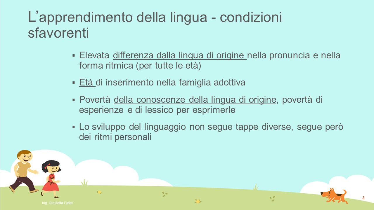 L'apprendimento della lingua - condizioni sfavorenti