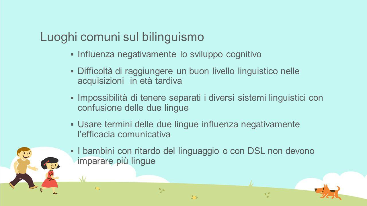 Luoghi comuni sul bilinguismo