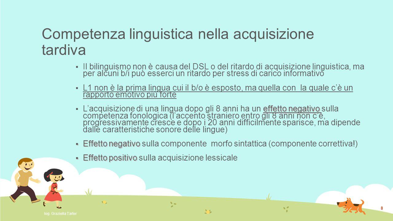 Competenza linguistica nella acquisizione tardiva