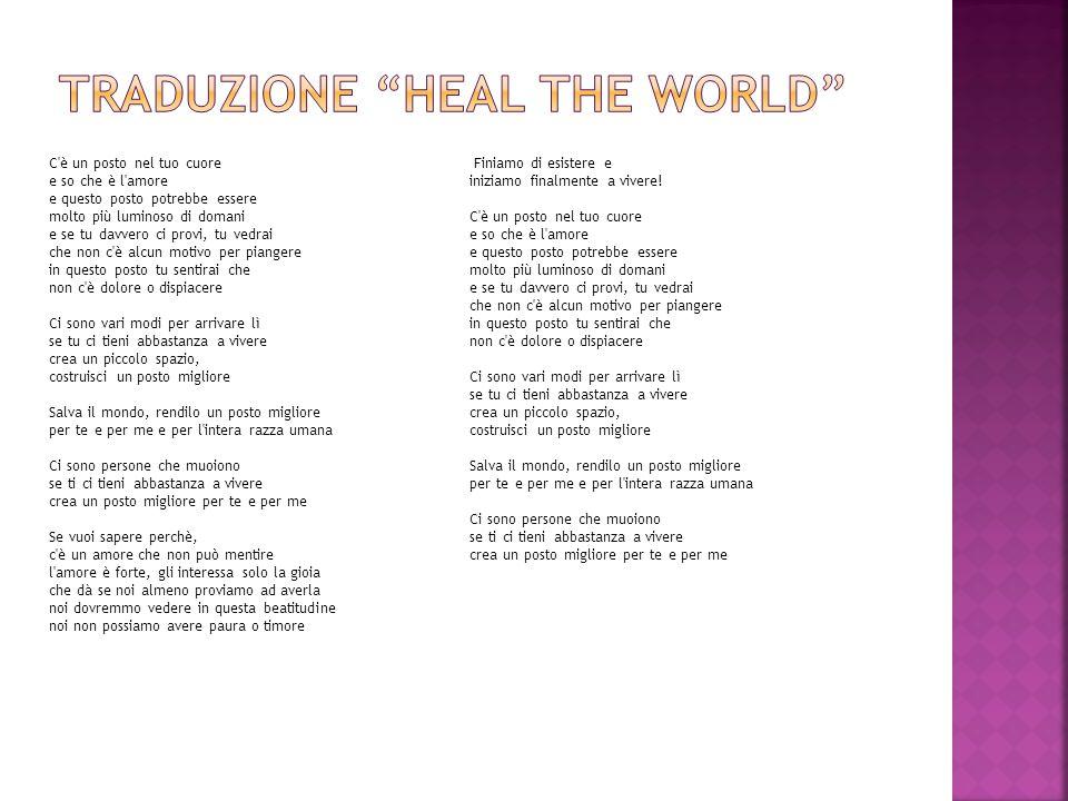 Traduzione heal the world