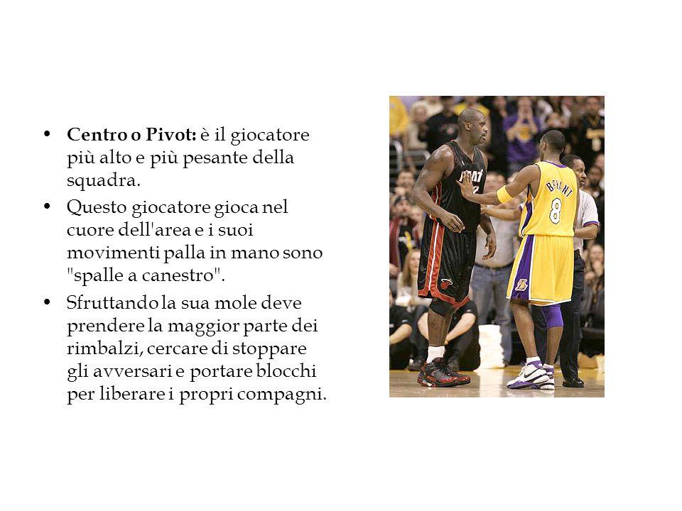 Centro o Pivot: è il giocatore più alto e più pesante della squadra.