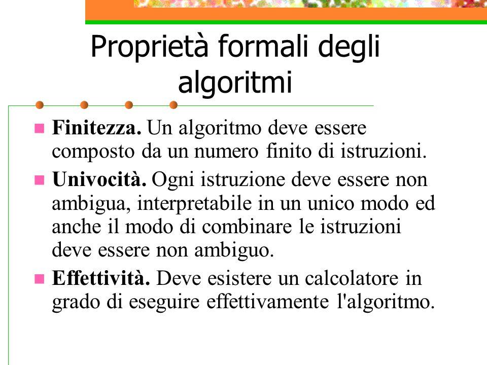 Proprietà formali degli algoritmi