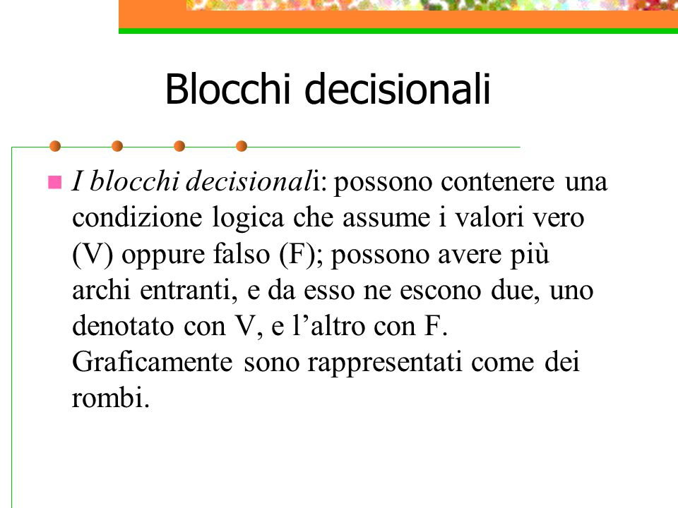 Blocchi decisionali
