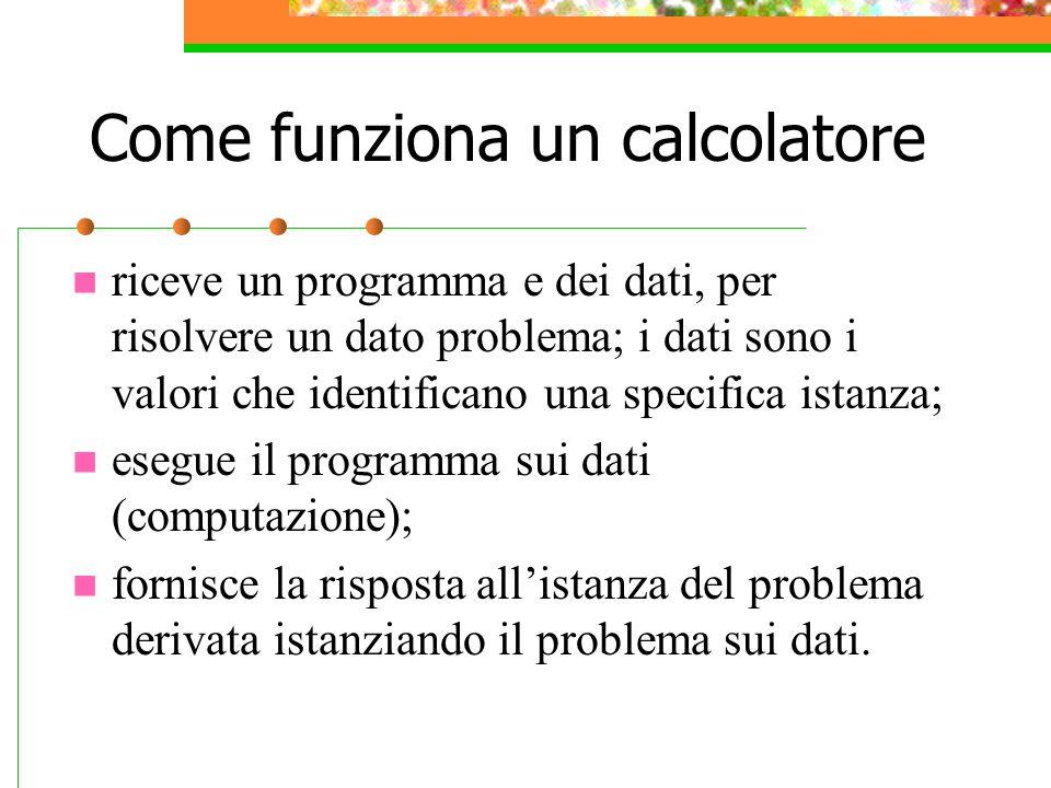 Come funziona un calcolatore
