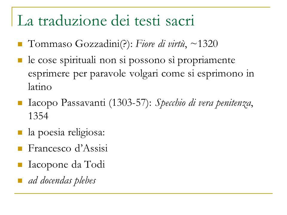 La traduzione dei testi sacri