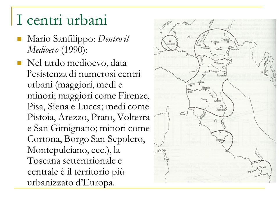 I centri urbani Mario Sanfilippo: Dentro il Medioevo (1990):