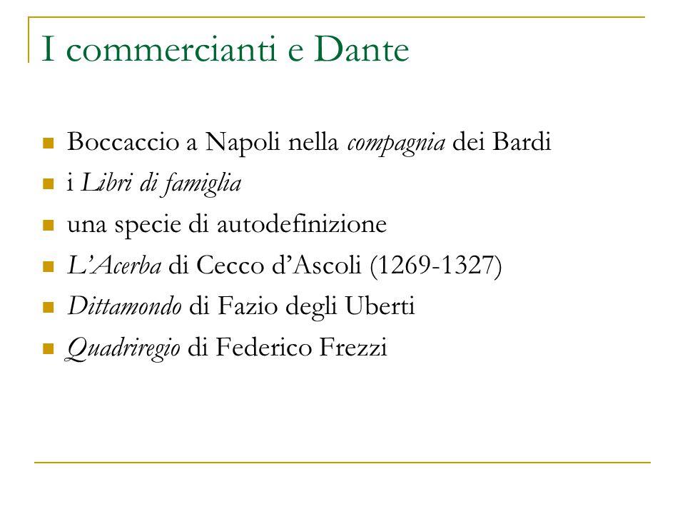 I commercianti e Dante Boccaccio a Napoli nella compagnia dei Bardi