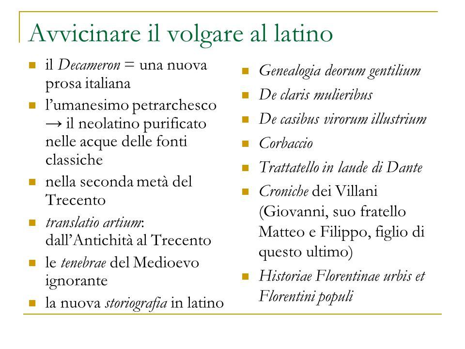 Avvicinare il volgare al latino