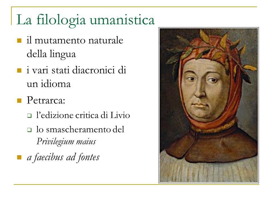 La filologia umanistica