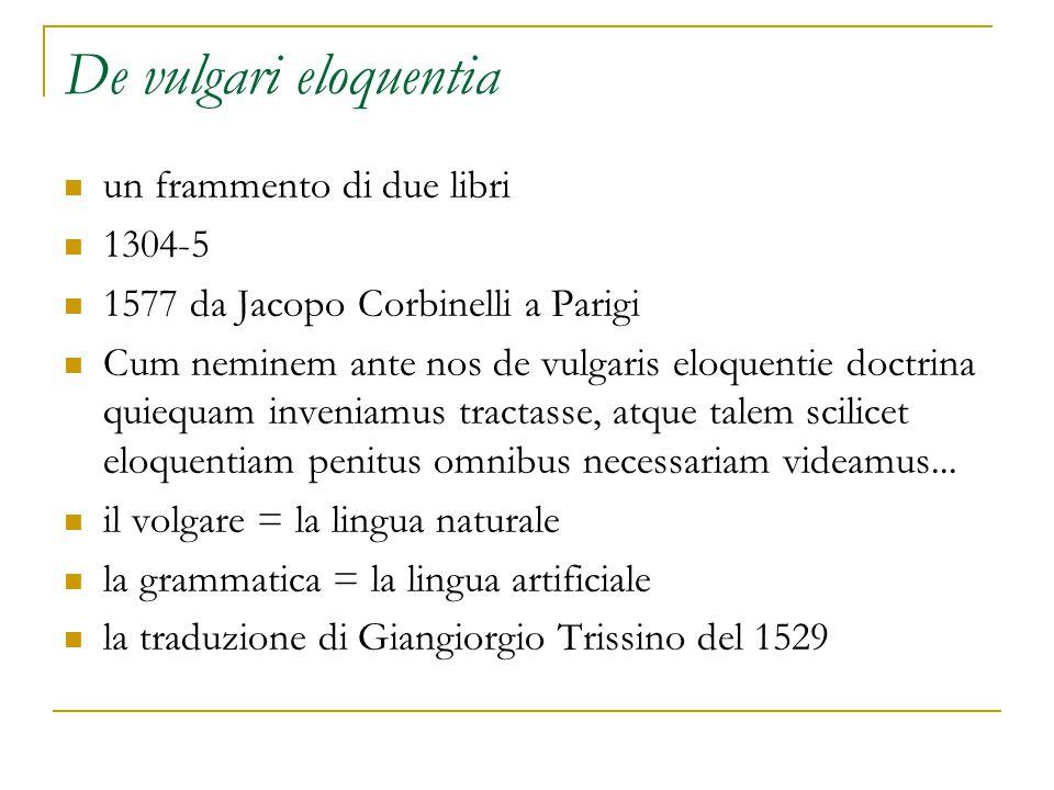 De vulgari eloquentia un frammento di due libri 1304-5