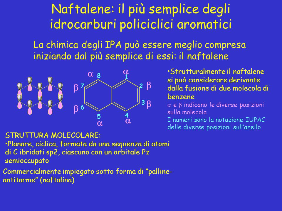 Naftalene: il più semplice degli idrocarburi policiclici aromatici