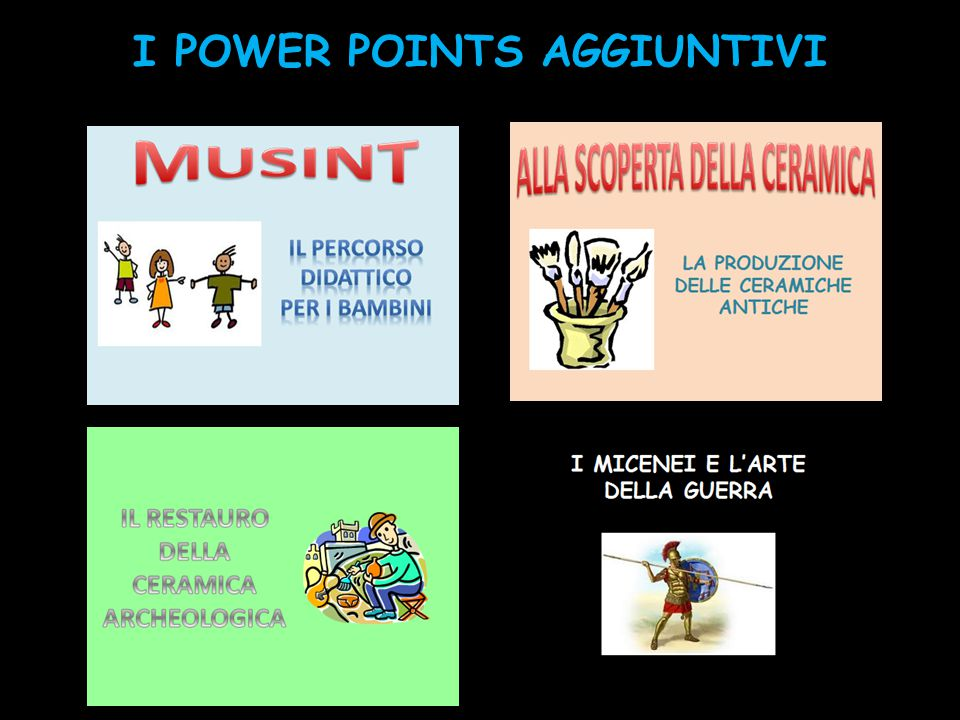 I POWER POINTS AGGIUNTIVI