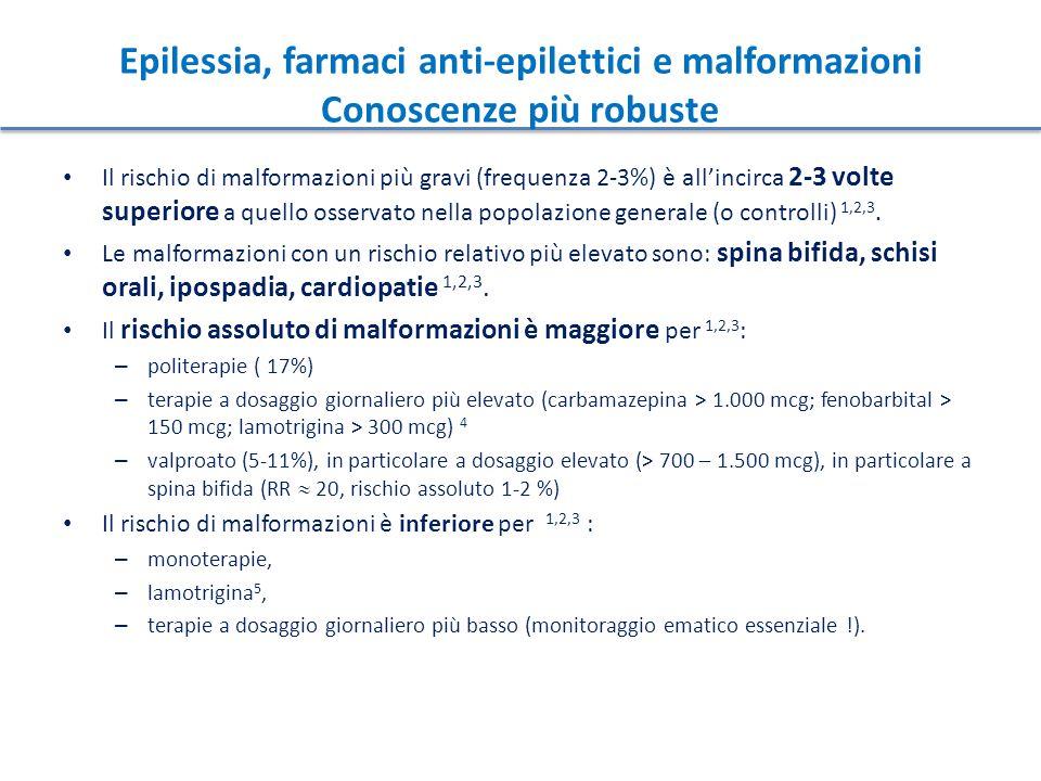 Epilessia, farmaci anti-epilettici e malformazioni Conoscenze più robuste