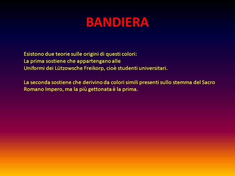 BANDIERA Esistono due teorie sulle origini di questi colori: