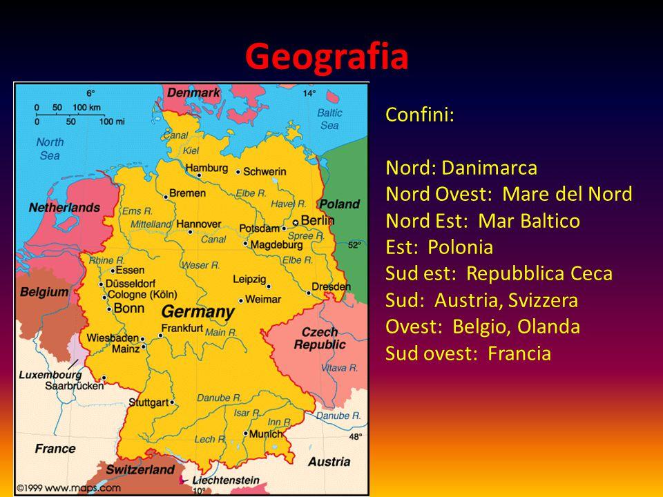 Geografia Confini: Nord: Danimarca Nord Ovest: Mare del Nord