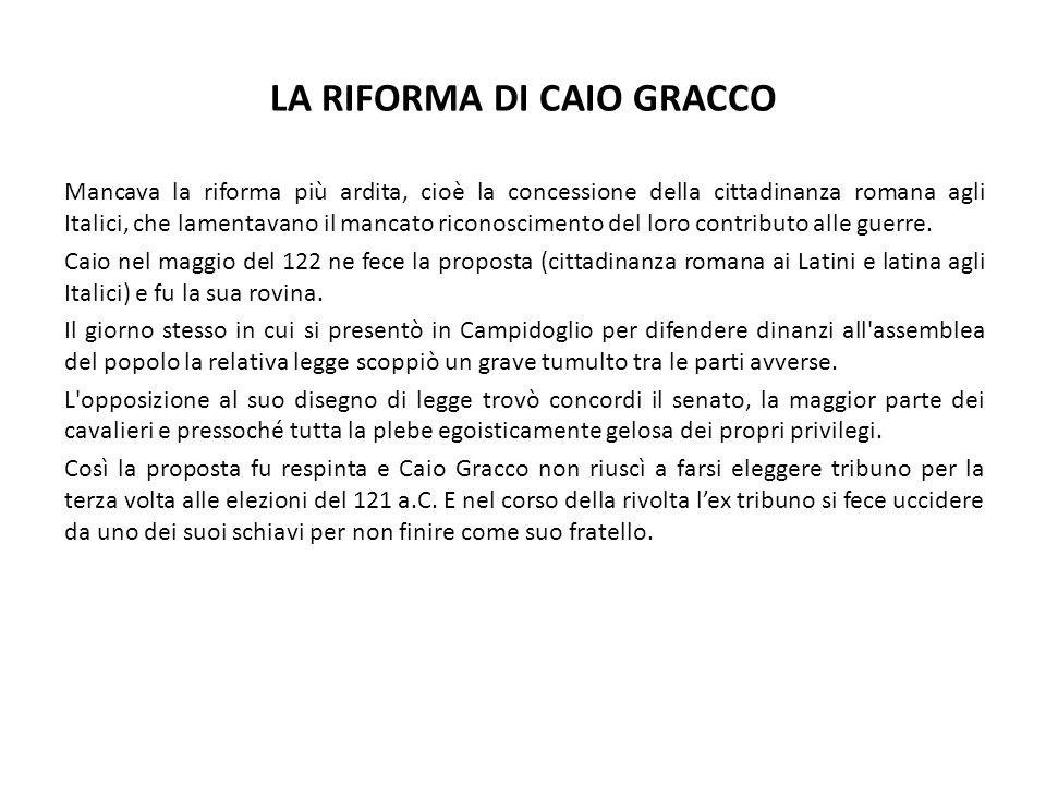 LA RIFORMA DI CAIO GRACCO
