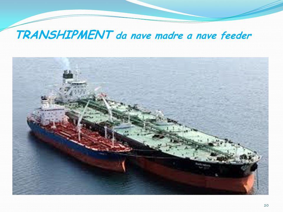 TRANSHIPMENT da nave madre a nave feeder
