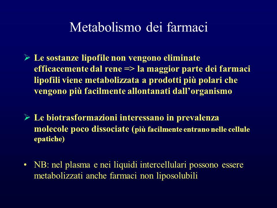 Metabolismo dei farmaci